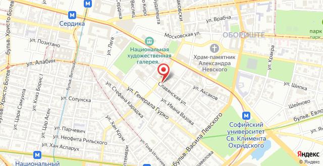 Slavyanska Beseda Hotel на карте