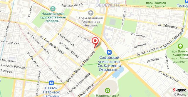 The University Apartment Sofia на карте