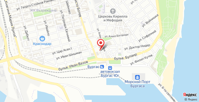 Hotel Burgas на карте