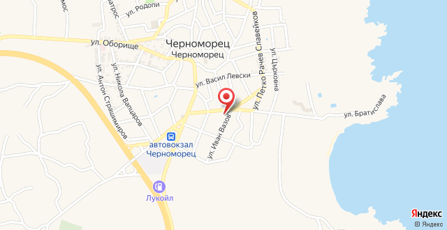 Апартамент в Черноморец на карте