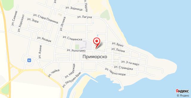 Ropotamo Guest House на карте