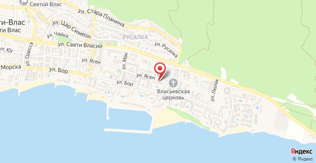 South Beach Hotel - Jujen Briag на карте