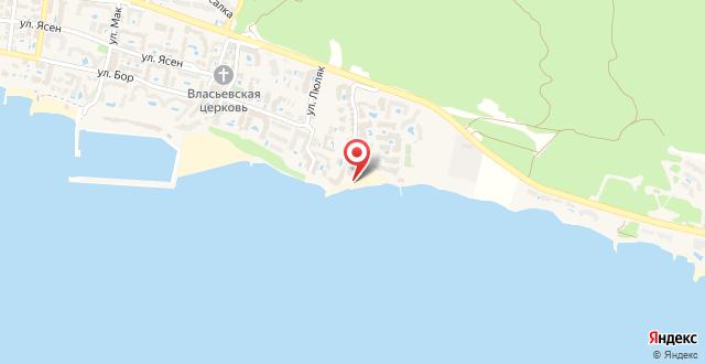 """Болгария, г.Свети Влас, к.""""Райска градина"""" на карте"""