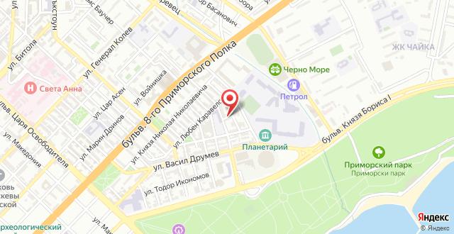 Апартамент Севастиян на карте