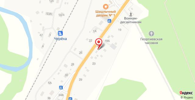 Гостевой дом Череха на карте