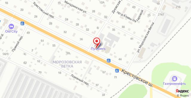 Отель Пушкинъ на карте