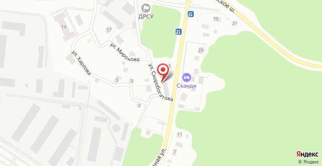 Коттедж Сканди Голд на карте