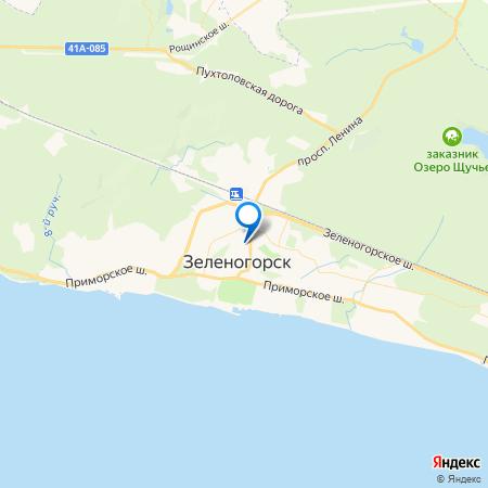 Изумрудный на карте