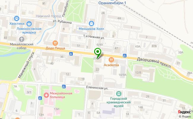 Сбербанк Санкт-петербург г. Ломоносов, проспект Дворцовый 22А карта