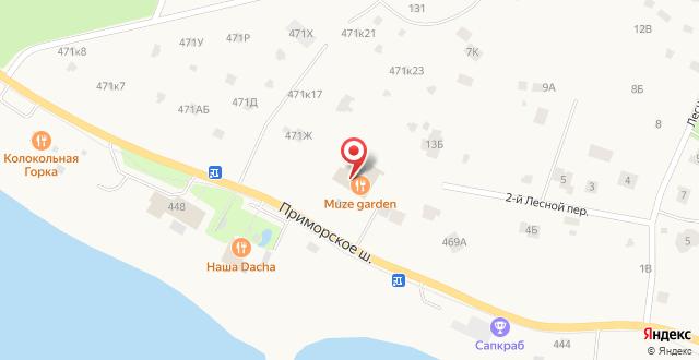 Коттедж В Репино на карте