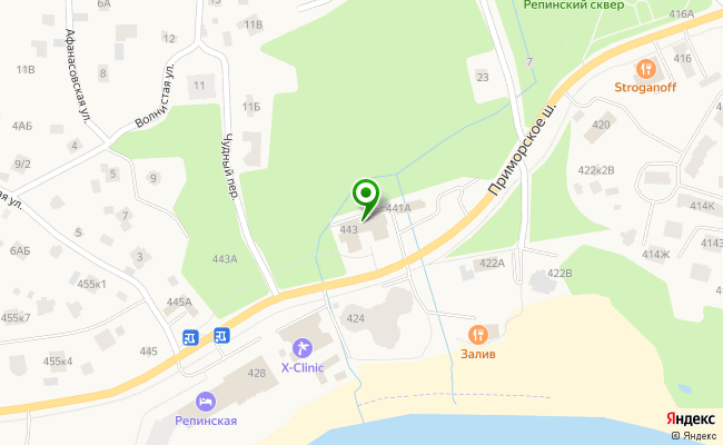 Сбербанк Санкт-петербург п. Репино, шоссе Приморское 443 карта