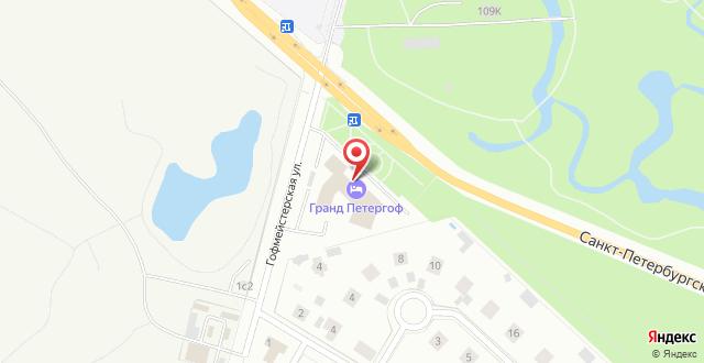Спа-отель Гранд Петергоф на карте
