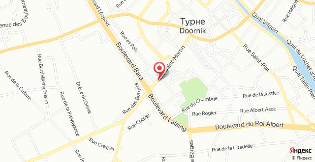 Auberge de Jeunesse de Tournai на карте