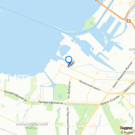 Прибалтийский на карте