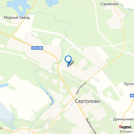 микрорайон Новое Сертолово на карте