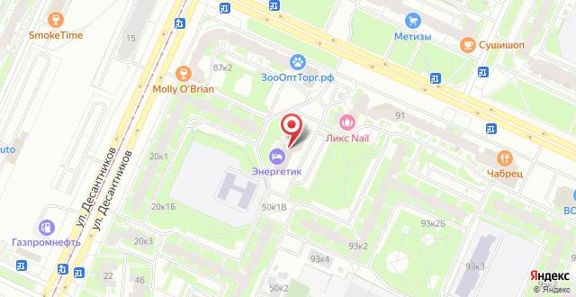 Гостиница Энергетик на карте