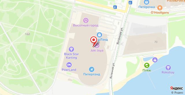 Отель Питерлэнд на карте