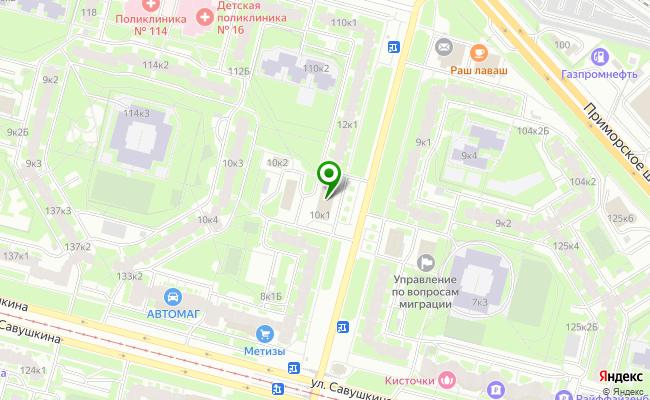 Сбербанк Санкт-петербург ул. Яхтенная 10, корп.1, лит. А карта