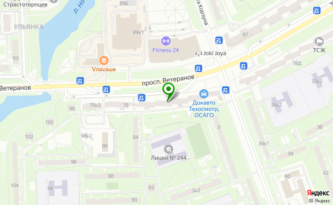 Сбербанк Санкт-петербург проспект Ветеранов 78, лит. А карта