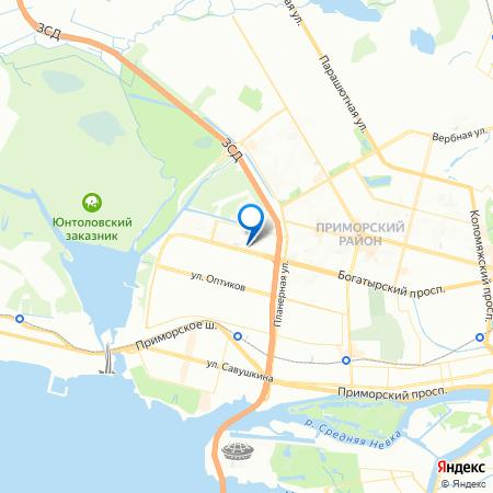 Северная регата на карте