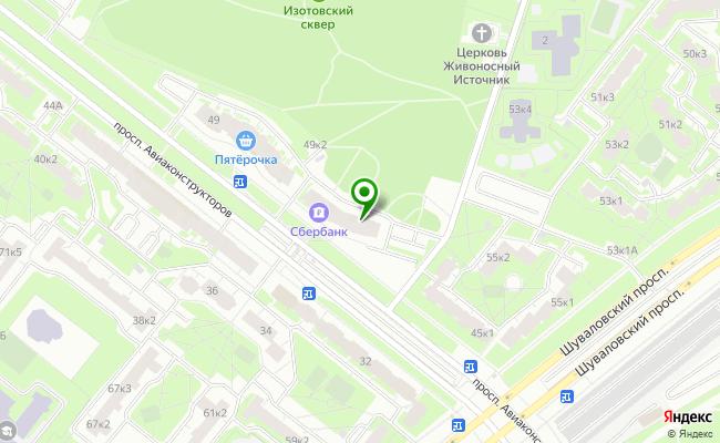Сбербанк Санкт-петербург проспект Авиаконструкторов 47 карта