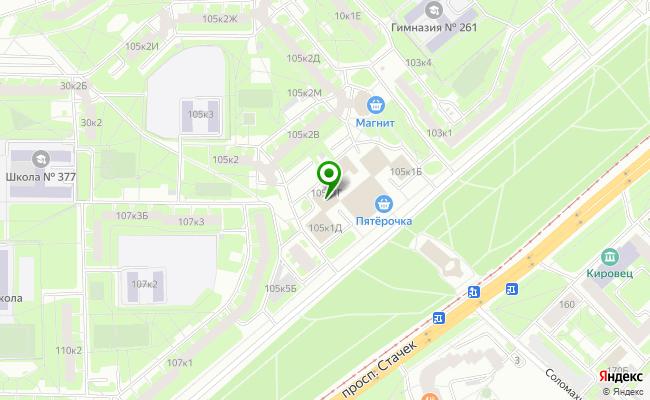 Сбербанк Санкт-петербург проспект Стачек 105, корп.1, лит. Г карта