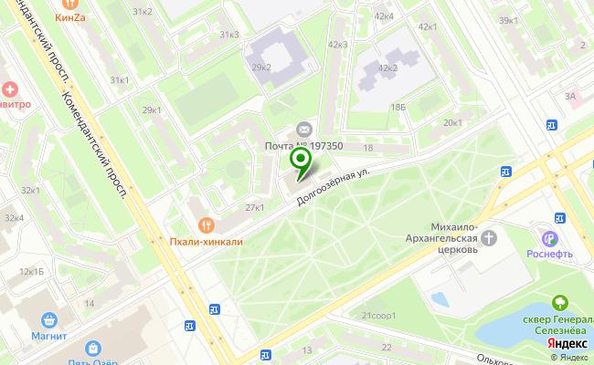 Сбербанк Санкт-петербург ул. Долгоозерная 16, корп.1, лит. А карта