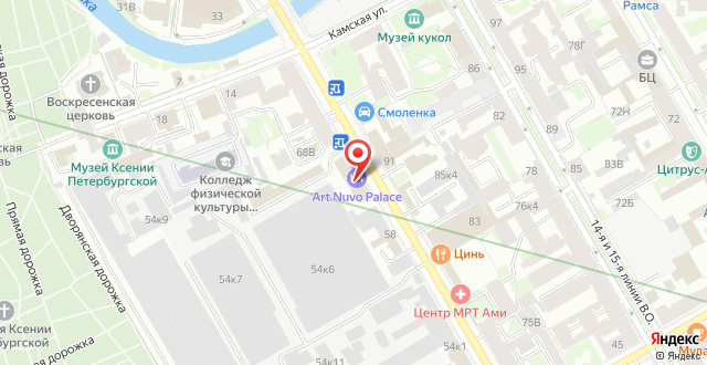 Отель Art Nuvo Palace на карте