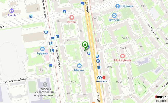 Сбербанк Санкт-петербург проспект Стачек 73, лит. А карта