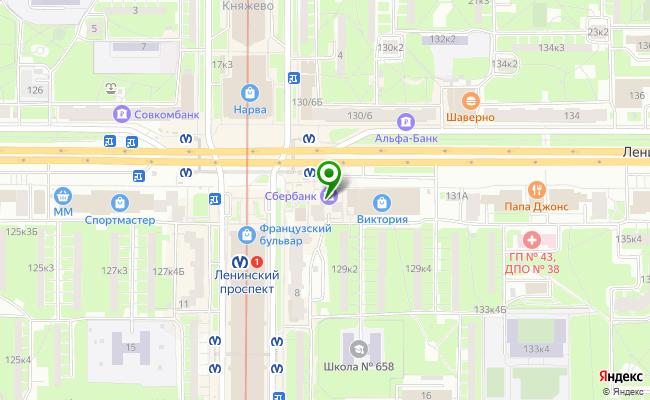 Сбербанк Санкт-петербург проспект Ленинский 129, лит. А карта