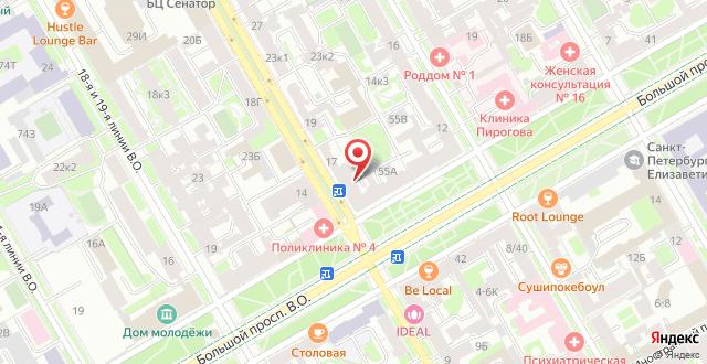 Хостел Фикус на карте