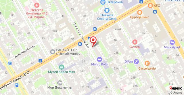 Отель Марко Поло на карте