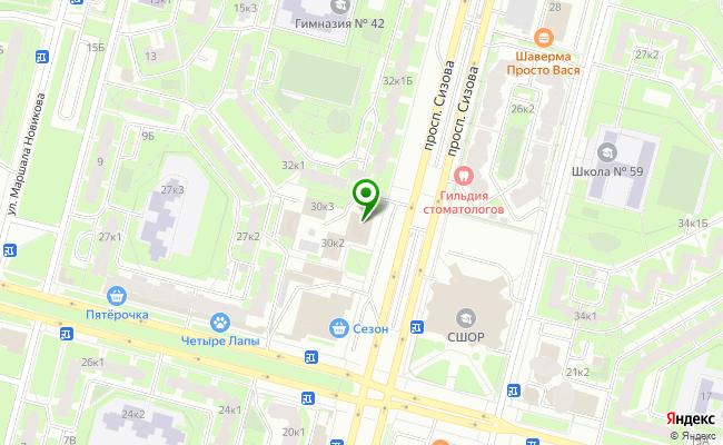Сбербанк Санкт-петербург проспект Сизова 30, корп.1, лит. А карта