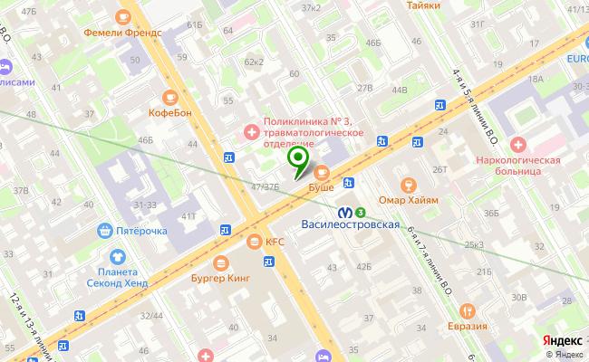Сбербанк Санкт-петербург проспект Средний В.О. 35, лит. А, пом. 1Н карта
