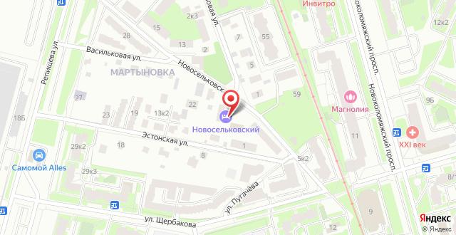 Гостевой дом Новосельковский на карте