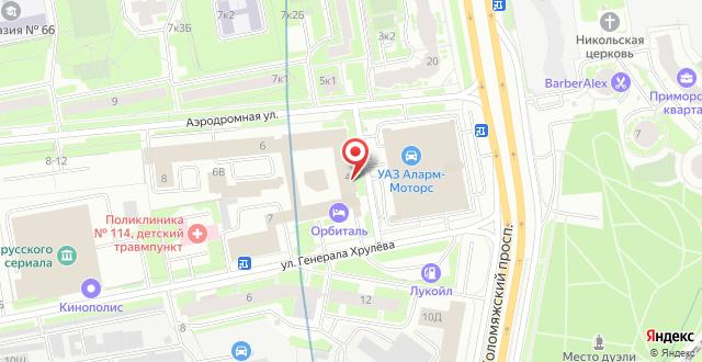 Гостиница Орбиталь (ЦИПК) на карте