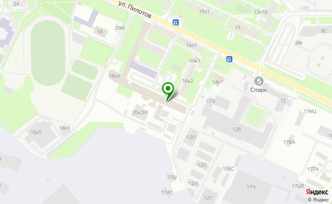 Сбербанк Санкт-петербург ул. Пилотов 18, корп.4, лит. А карта