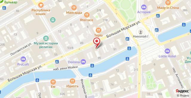 Отель LOFT на карте