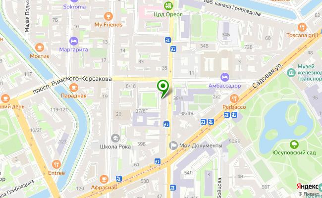 Сбербанк Санкт-петербург проспект Вознесенский 37/6, лит. А карта