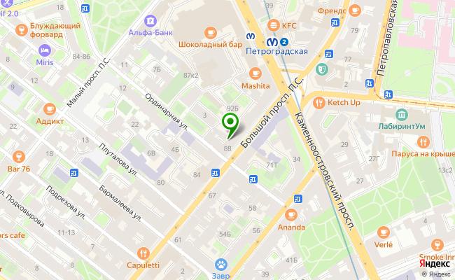 Сбербанк Санкт-петербург проспект Большой П.С. 90, лит. А, пом. 1Н карта