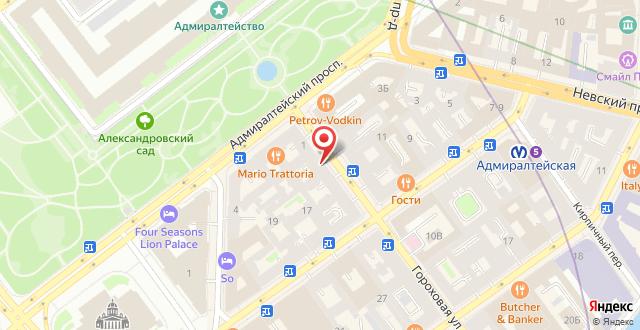 Гостевой дом Соло Панорама Дворцовая площадь на карте