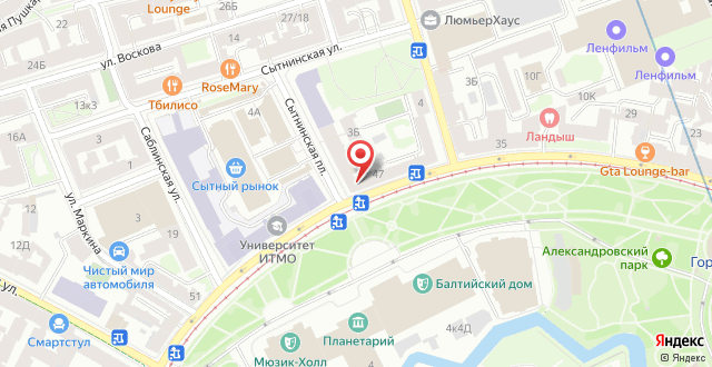 Хостел Кронверк на карте