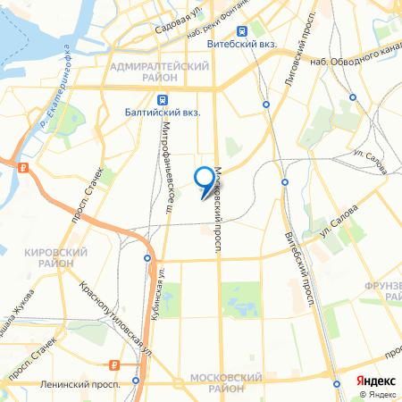Московские ворота на карте