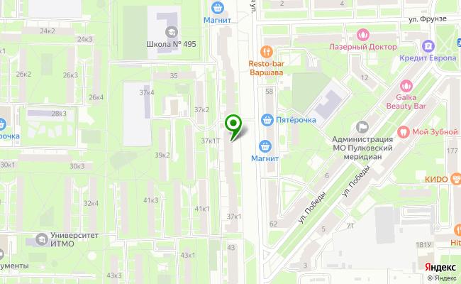 Сбербанк Санкт-петербург ул. Варшавская 37, корп.1, лит. А карта
