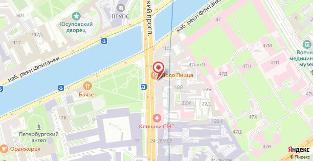 Хостел Star House на Московском на карте