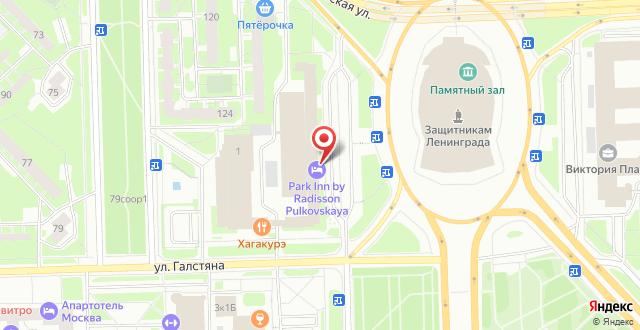 Отель Парк Инн Пулковская на карте