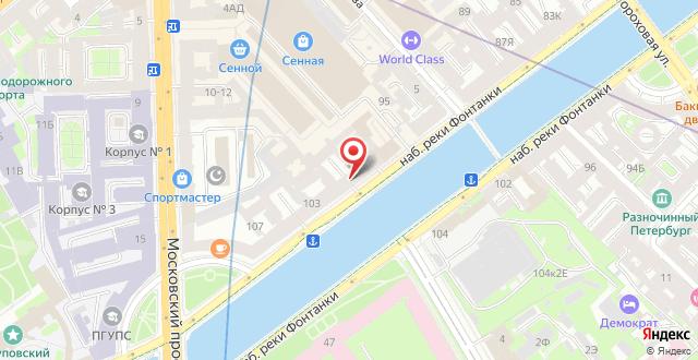 Апартаменты Sokroma Фонтанный дом Aparts на карте