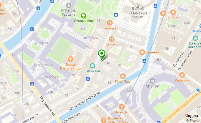 Сбербанк Санкт-петербург ул. Казанская 8/10, лит. А карта