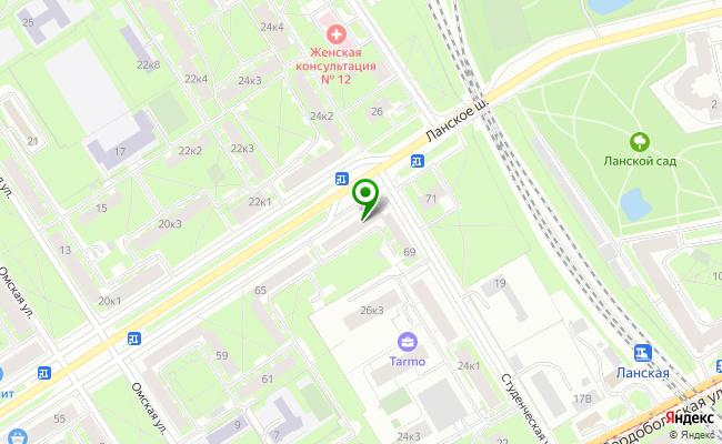 Сбербанк Санкт-петербург шоссе Ланское 69, лит. А карта