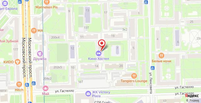 Кино Хостел на Московском на карте
